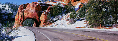 Arch Over Road, Utah State Route 12 Poster by Panoramic Images