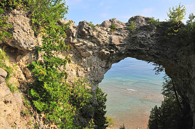 Arch Rock In Mackinac Island State Park Poster