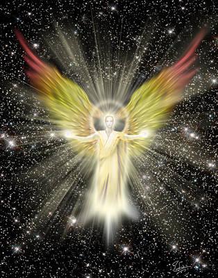 Archangel Gabriel Poster by Endre Balogh