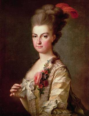 Archduchess Marie-christine Habsburg-lothringen Oil On Canvas Poster by .