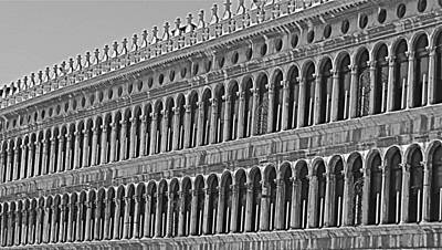 Arches And Columns In Piazza San Marco Poster by Rita Mueller