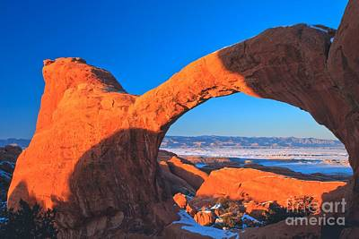 Arches Sunset Orange Poster by Adam Jewell