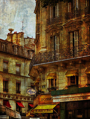 Architectural Detail Librairie Opera Paris Poster