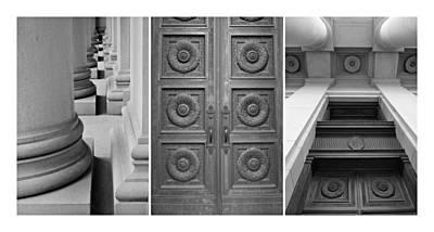 Architectural Triptych Poster by Patricia Strand