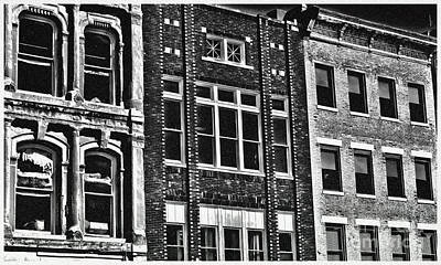 Architecture - Early City Buildings Bw - Luther Fine Art Poster by Luther Fine Art