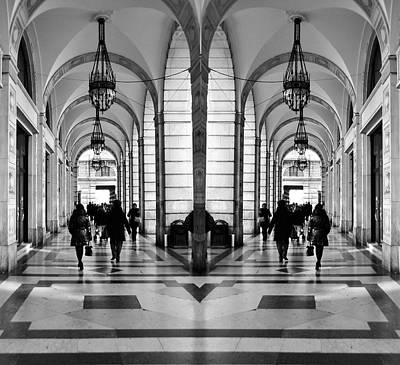 Poster featuring the photograph Archway Trieste by Graham Hawcroft pixsellpix