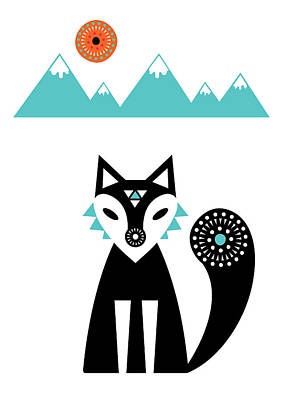 Arctic Fox Poster by Susan Claire