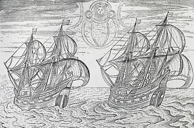 Arctic Phenomena From Gerrit De Veer S Description Of His Voyages Amsterdam 1600 Poster