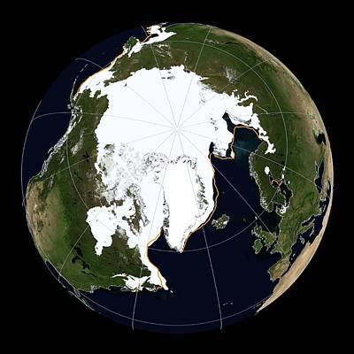 Arctic Sea Ice Maximum Poster