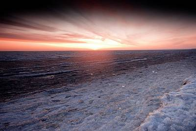 Arctic Sunrise Over The Beaufort Sea Poster by Chris Madeley