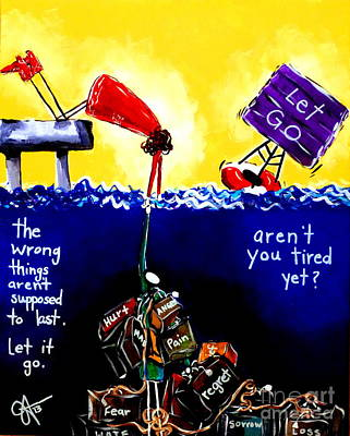 Poster featuring the painting Aren't You Tired Yet? by Jackie Carpenter