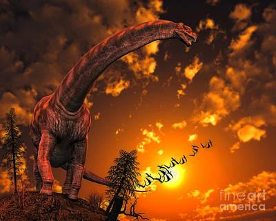 Argentinosaurus, A Titanosaur Sauropod Poster by Philip Brownlow
