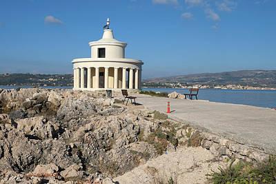 Argostolion Greece Lighthouse Poster by John Jacquemain