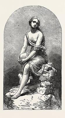 Ariadne, 1851 Engraving Poster by Kirk, Thomas (1765?1797), English