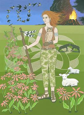 Aries Poster by Karen MacKenzie
