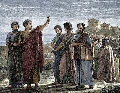 Aristotle's Self-exile Poster
