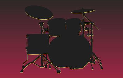 Arizona Cardinals Drum Set Poster by Joe Hamilton