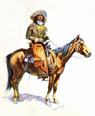 Arizona Cowboy Poster by Frederic Remington