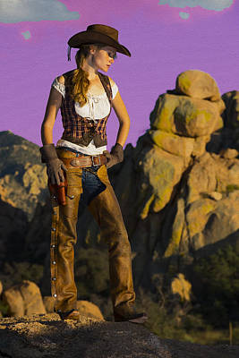 Arizona Cowgirl Poster