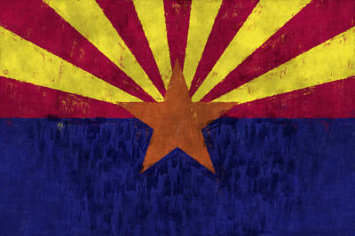 Arizona Flag Poster by World Art Prints And Designs
