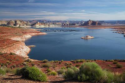 Arizona, Lake Powell At Wahweap (far Poster by David Wall
