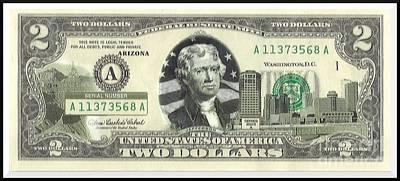 Arizona Two Dollar Bill Poster by Charles Robinson