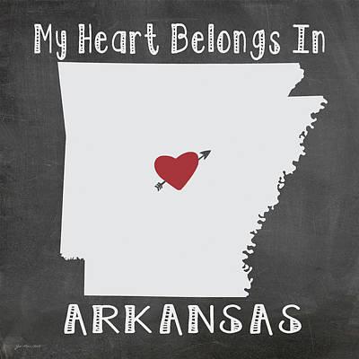 Arkansas Poster by Jo Moulton