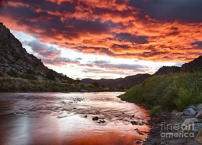 Arkansas River Sunrise Poster