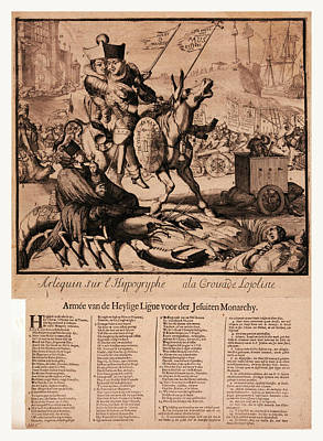 Arlequin Sur Lhippogryphe A La Croisade Lojoliste Armee Van Poster by English School