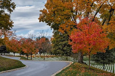 Arlington National Cemetery In Autumn Poster