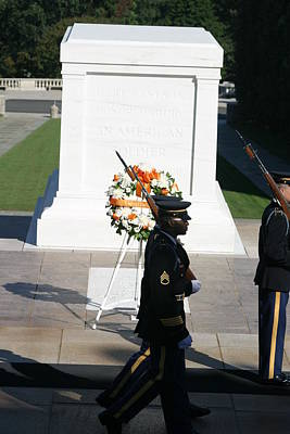Arlington National Cemetery - Tomb Of The Unknown Soldier - 121213 Poster by DC Photographer