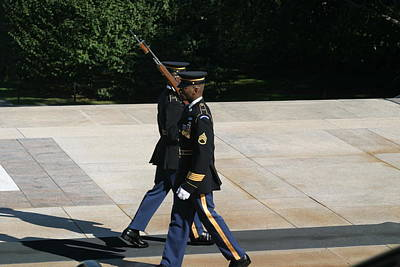 Arlington National Cemetery - Tomb Of The Unknown Soldier - 12127 Poster by DC Photographer