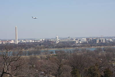 Arlington National Cemetery - View From Arlington House - 12122 Poster