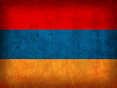 Armenia Flag Vintage Distressed Finish Poster by Design Turnpike