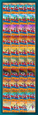 Armenian Alphabet Seasons Poster by Bedros Awak