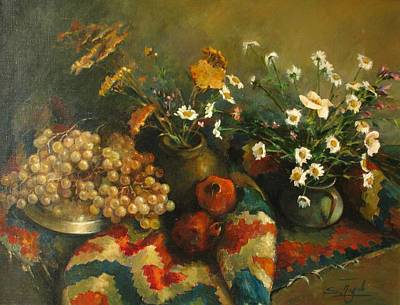 Poster featuring the painting Armenian Still-life by Tigran Ghulyan
