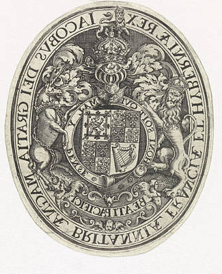 Arms Of England, Simon Van De Passe Poster by Simon Van De Passe