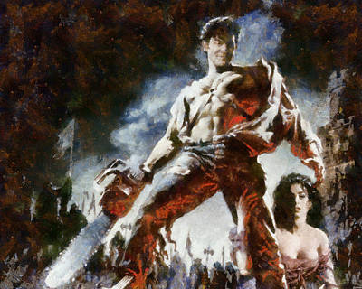 Poster featuring the painting Army Of Darkness by Joe Misrasi