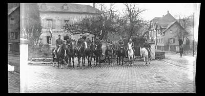 Army Officers On Horseback, Likely Poster