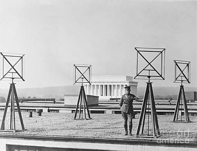 Army Rooftop Radio Antennas, 1924 Poster by Library Of Congress