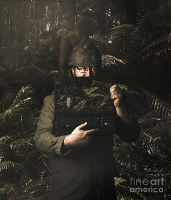 Army Soldier With Security Screen Saver Poster by Jorgo Photography - Wall Art Gallery