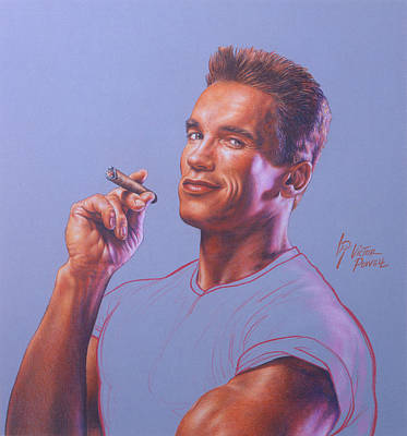 Arnold Schwarzenegger Portrait Poster by Victor Powell