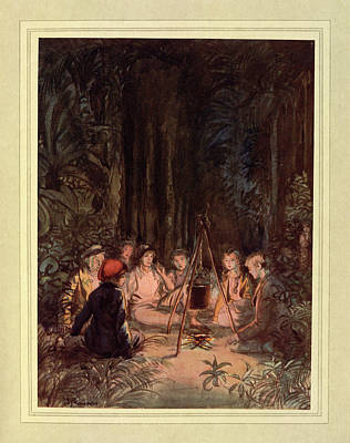 Around A Fire Poster by British Library