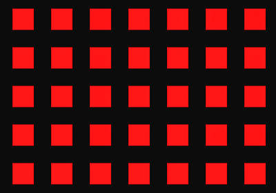 Array Of Red Squares On Black Poster by Daniel Hagerman