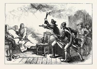 Arrest Of General Prescott, Us, Usa Poster by English School