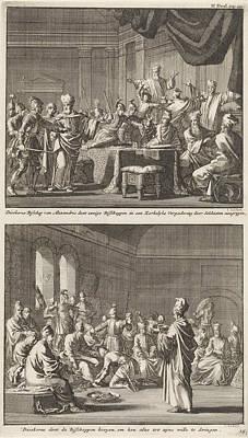 Arrest Of Some Bishops At The Order Of Bishop Dioscorus Poster by Jan Luyken And Jacobus Van Hardenberg And Barent Visscher