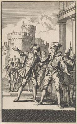 Arrest Of The Duke Of Alva, 1573, Jan Luyken Poster by Jan Luyken