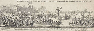 Arrival Of Queen Catherine Of Braganza In Portsmouth Poster