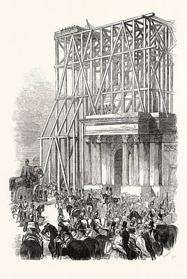 Arrival Of The Wellington Statue At The Arch Poster