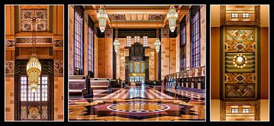 Art Deco Durham Triptych #1 Poster